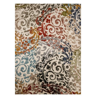 Furniture of America Evie Contemporary Recycled Scrollwork Rug (2 options available)