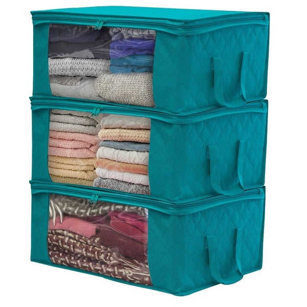 Sorbus Foldable Storage Bag Organizers (3 Pack)