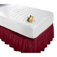 Wrap Around Bed Ruffle Twin/Full in Burgundy