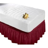 Wrap Around Bed Ruffle Queen/King in Burgundy