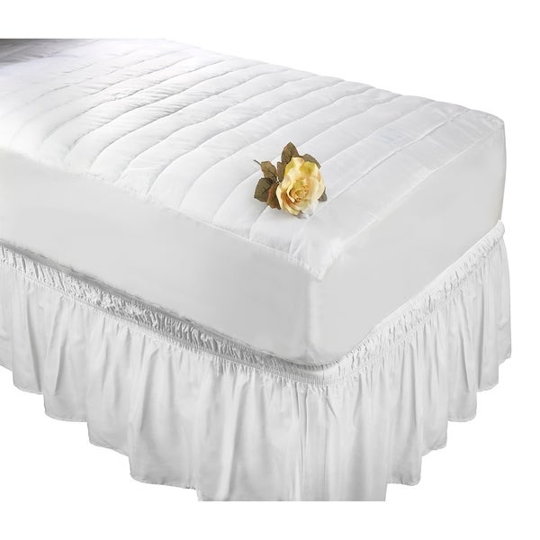 Wrap Around Bed Ruffle Queen/King in White