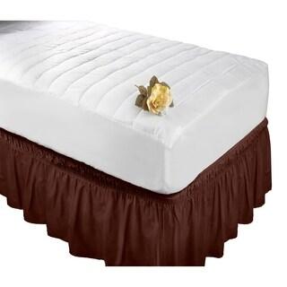 Wrap Around Bed Ruffle Twin/Full in Chocolate