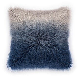 Shop Nikki Chu Mahal Blue Silver Ombre Poly Throw Pillow