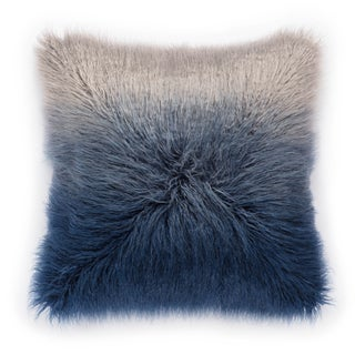 Nikki Chu Mahal Blue/Silver Ombre Poly Throw Pillow 22 inch