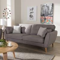 Mid-Century Fabric Upholstered Sofa by Baxton Studio