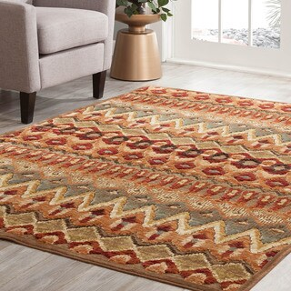 Furniture of America Contemporary Lansbury Kilim Inspired Accent Rug