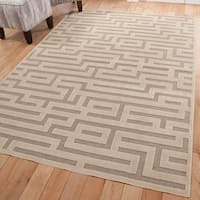 Furniture of America Contemporary Lansbury Textured Maze Accent Rug