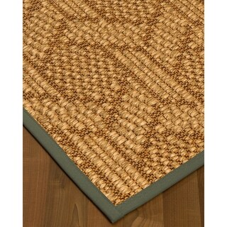"NaturalAreaRugs Seattle Sisal Carpet Runner Made in USA Stone Border (2' 6"" x 8')"