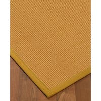 "NaturalAreaRugs Victoria Wool Carpet Runner Made in USA Tan Border (2' 6"" x 8')"