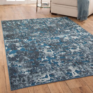 Furniture of America Contemporary Lansbury Lake Water Accent Rug