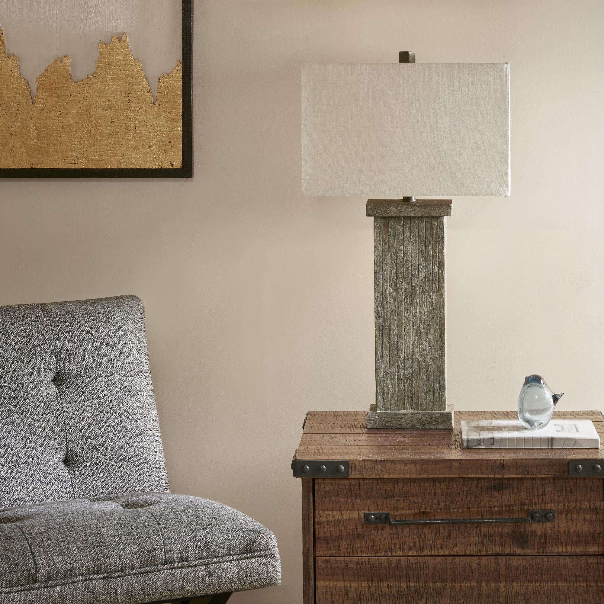 INK+IVY Bowdon Grey Table Lamp (16L x 16W x 30H - Grey)