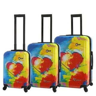 Prado-In Love Hard side Spinner Luggage 3 Piece set
