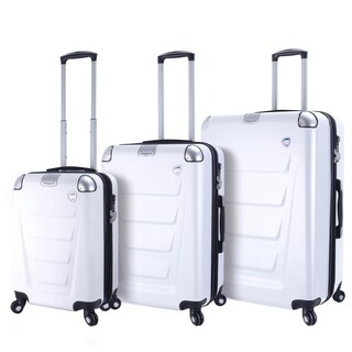 Mia Toro ITALY Accadia Hard side Spinner Luggage 3 Piece set