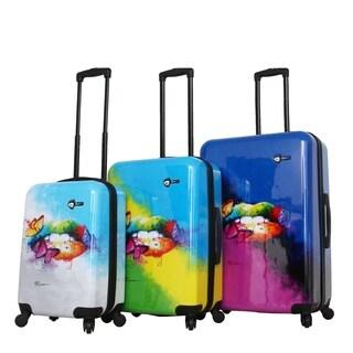 Prado-Pop Lips Spinner Luggage 3 Piece Set