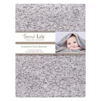 Heathered Gray Sweatshirt Knit Baby Blanket