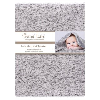Heathered Gray Sweatshirt Knit Baby Blanket