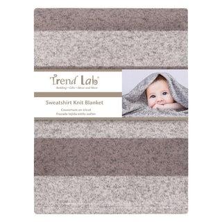 Rugby Stripe Sweatshirt Knit Baby Blanket