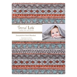 Aztec Sweatshirt Knit Baby Blanket