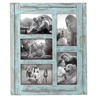 4X6 Five Photo Heartland Frame Blue