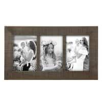 4X6 Three Photo Ripley Frame Black