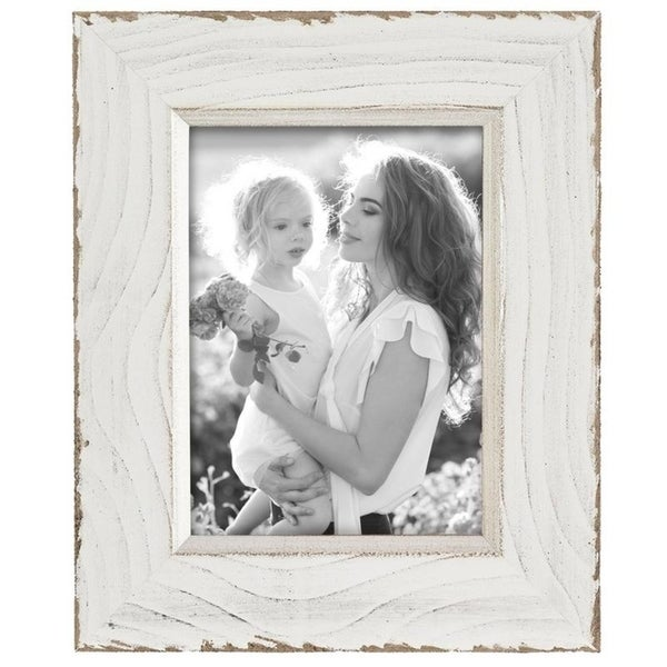 Shop 5x7 Lafayette Distressed Photo Frame White Free Shipping On