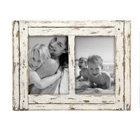 5X7 Two Photo Heartland Frame White