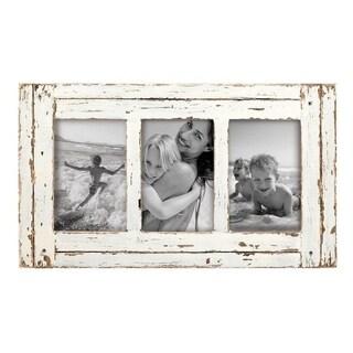 4X6 Three Photo Heartland Frame White