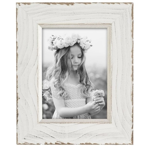 4x6 Lafayette Distressed Photo Frame White Free Shipping On Orders