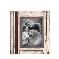 5X7 Rustic Wood Frame White