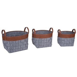 Tall Woven Nesting Baskets, Set of 3