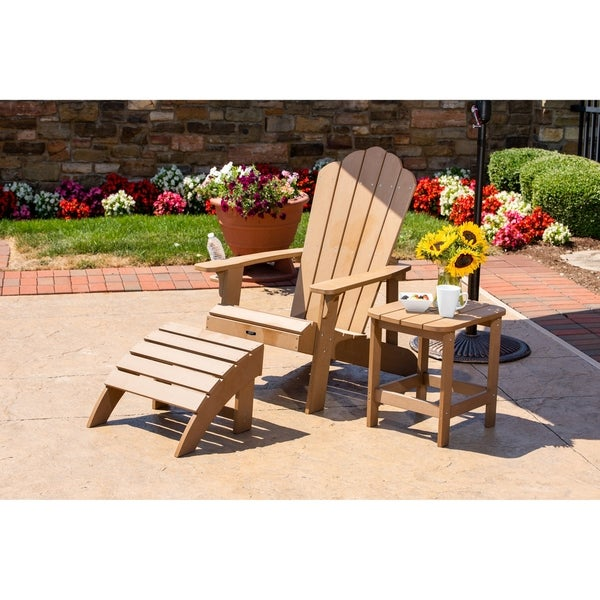 Adirondack Chair Outdoor Weather Resistant in White Resin Patio Deck Garden