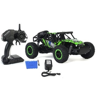 Cross Country Racing Slayer Toy Green Rally Buggy RC Car 1-16 Scale