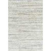 """Contemporary Ivory/ Beige Abstract Shag Rug - 8' 10"""" x 12'"""