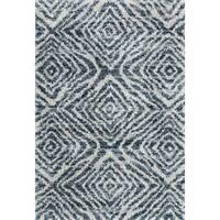 "Contemporary Blue/ Grey Moroccan Shag Rug - 8' 10"" x 12'"