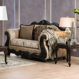 Furniture of America Charleston Traditional Tufted Chenille Love Seat