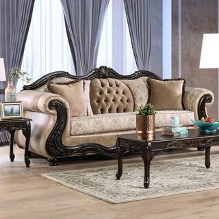 Furniture of America Charleston Traditional Tufted Chenille Sofa