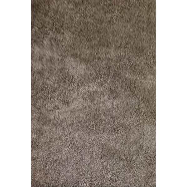 2 Tone Brown 3 Inch Thick Solid Color Area Rug