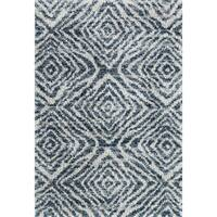 "Contemporary Blue/ Grey Moroccan Shag Rug - 7'10"" x 10'10"""