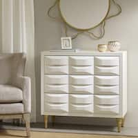 Madison Park Savannah White 3-Drawer Chest