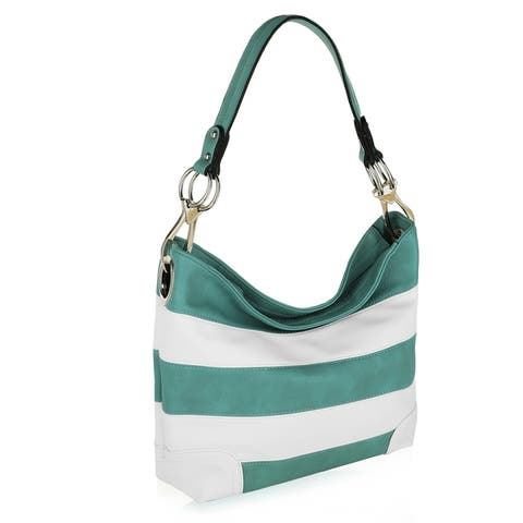 MKF Collection Emily Soft Vegan Leather Stripe Hobo by Mia K.