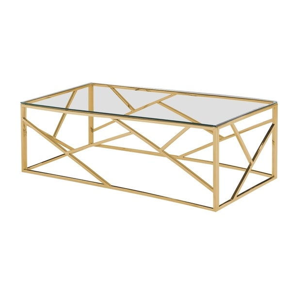 Best Master Furniture Angled Coffee Table