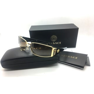 Versace Women Gold Rectangular New Sunglasses MOD 2021 1002 13 3N 60 Metal
