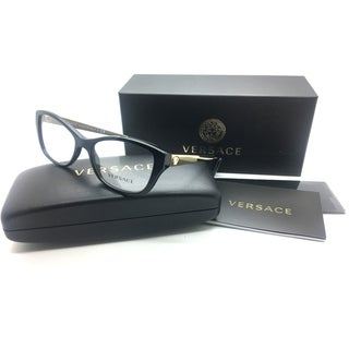 Versace Women Black Square New Eyeglasses MOD 3236 GB! 52 Plastic