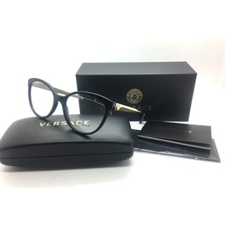 Versace Women Black Cats Eye New Eyeglasses MOD 3237 GB! 54 Plastic