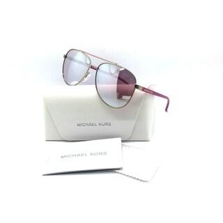 Michael Kors Women Gold Aviator Mirror Sunglasses MK 5007 Hvar 10397V 2N 59 Metal