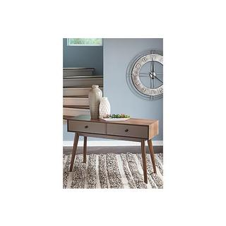 Signature Design by Ashley Lynnifer Contemporary Two-Tone Sofa Table