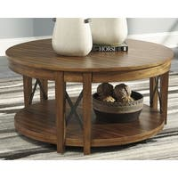 Signature Design by Ashley Emilander Light Brown Coffee Table