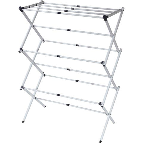 Sunbeam Grey Steel 3-tier Expandable Clothes Dryer