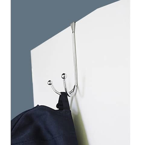 Home Basics Chrome Over The Door Double Hook