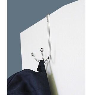 Home Basics Chrome Over The Door Double Hook